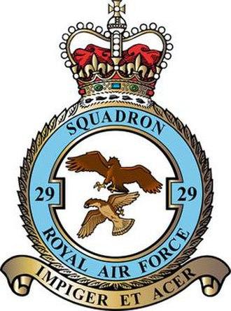 No. 29 Squadron RAF - 29 Squadron badge