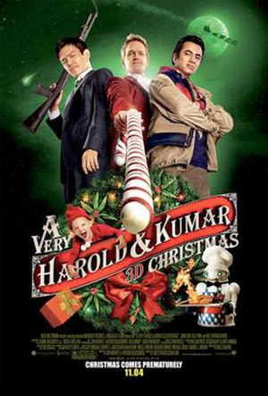 A Very Harold & Kumar 3D Christmas - Theatrical release poster