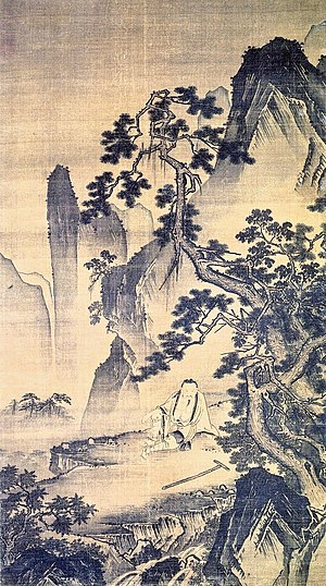 Ming dynasty painting - An anchorite, by Dai Jin, founder of the Zhe School of painting