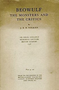 <i>Beowulf</i>: The Monsters and the Critics 1936 lecture by J. R. R. Tolkien