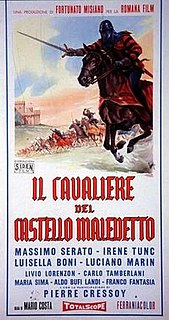 <i>Cavalier in Devils Castle</i> 1959 Italian swashbuckler film written and directed by Mario Costa