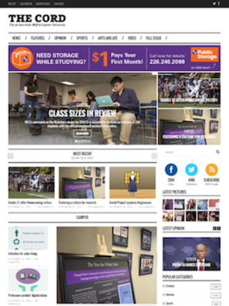 The Cord - The Cord's website as of September 26, 2014