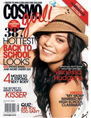 Cosmogirl - Vanessa Hudgens on the cover of CosmoGirl
