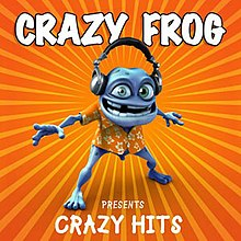 Crazy Frog - Crazy Frog Presents Crazy Hits CD cover.jpg