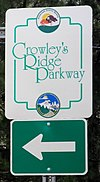 Crowleys Ridge Scenic Byway sign