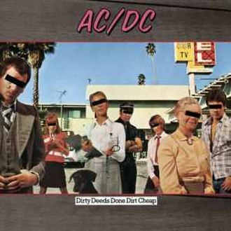 Dirty Deeds Done Dirt Cheap - Image: Dirty Deeds Done Dirt Cheap (ACDC album cover art 0