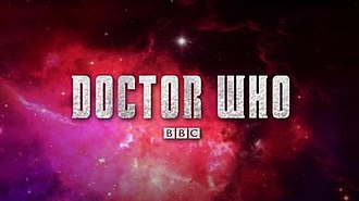 Doctor Who (series 7) - The Doctor Who title card for the second part of series 7, similar to the logo use in the first part of the series but with different texture and background.