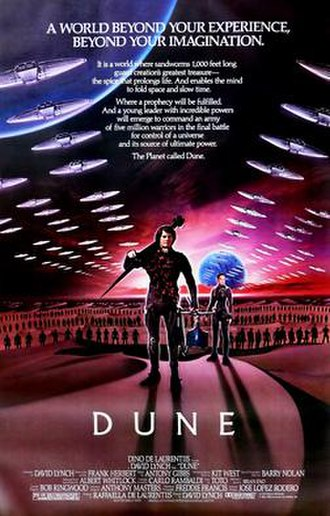 Dune (1984 film) - Theatrical release poster by Tom Jung