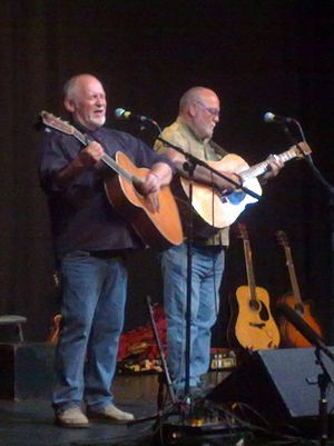 Eric Bogle - Bogle (left) with John Munro in Watford during their 2009 farewell tour.