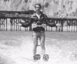 Fonzie on water skis, in a scene from the Happ...