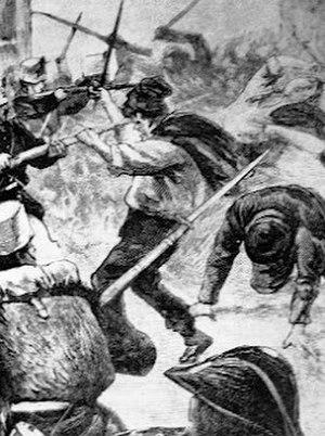 Giardinello massacre - A print reproducing the massacre of Giardinello at the time
