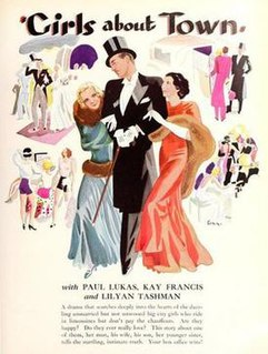 <i>Girls About Town</i> (film) 1931 film