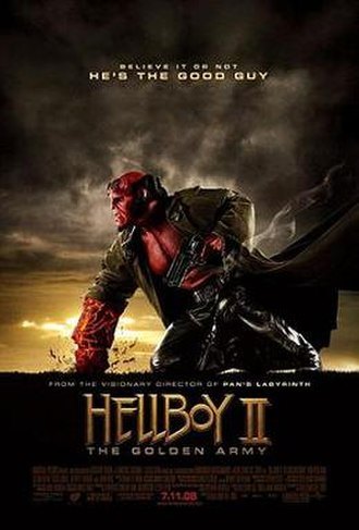 Hellboy II: The Golden Army - Theatrical release poster