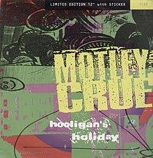"The UK 12"" edition of the single came with a sticker of the new Mötley Crüe band logo"