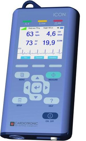 Electrical cardiometry - A non-invasive cardiac output monitor which uses electrical cardiometry (Cardiotronic, Inc.)
