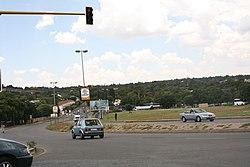 Busy side street off Beyers Naudé Drive in Cresta, Gauteng.