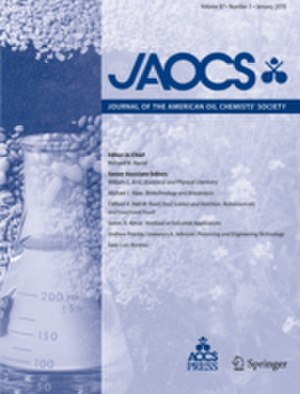 Journal of the American Oil Chemists' Society - Image: Journal of the American Oil Chemists' Society