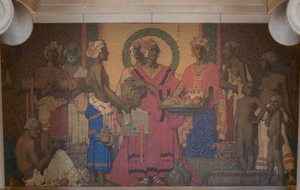 """Jules Guérin (artist) - Guerin's Mural """"Traders of the Adriatic"""" at the old Federal Reserve Bank Building of San Francisco, San Francisco CA"""
