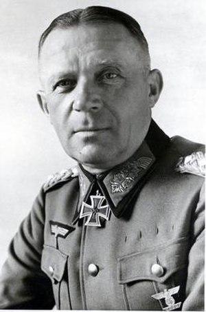 Karl Strecker - Karl Strecker, as a Gerneal der Infanterie, wearing the Knight's Cross
