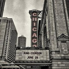 A photograph of the Chicago Theatre's signage, taken by Tony Levin