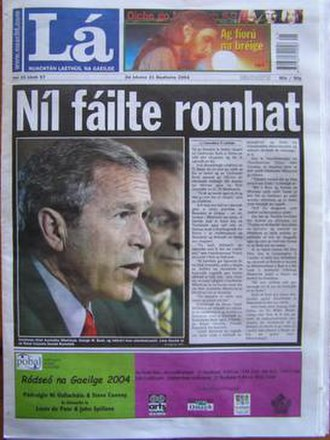 Lá - Lá Nua front page 21 May 2004