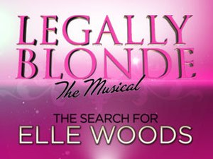 Legally Blonde: The Musical – The Search for Elle Woods - Official logo art for the show