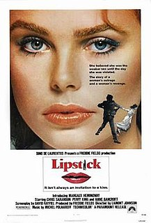 <i>Lipstick</i> (1976 film) 1976 drama film by Lamont Johnson