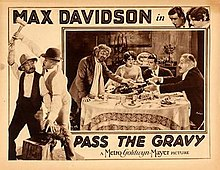 Lobby card for 1928 silent film Pass the Gravy.jpg