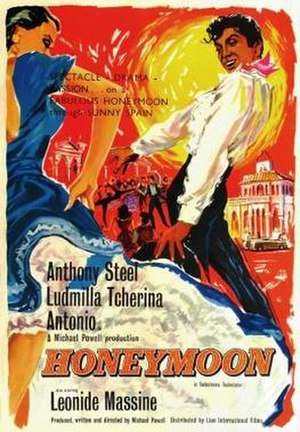 Honeymoon (1959 film) - UK poster