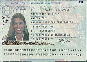 British passport (Montserrat) - Montserratian passport information page