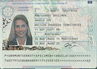 British passport (Montserrat) - Montserratian passport information page