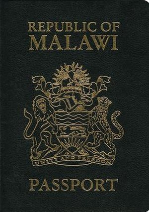 Malawian passport - Malawian passport front cover