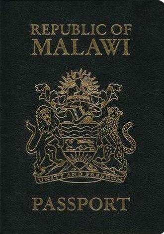 Malawian passport - Malawian passport front cover