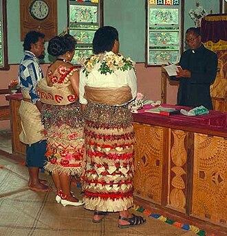 Taʻovala - Image: Marriage mat