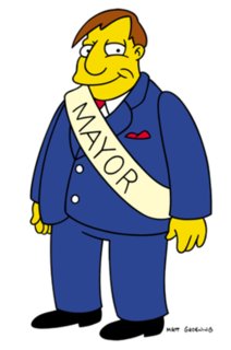 Mayor Quimby fictional character from The Simpsons franchise