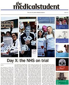 MedicalStudentNewspaper March2011 Frontpage.jpg