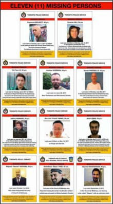 Composite of 11 missing persons notices