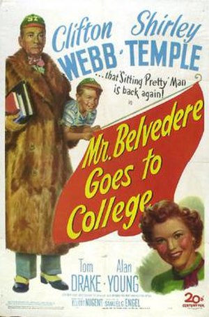 Mr. Belvedere Goes to College - Theatrical release poster