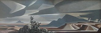 Thomas C. Lea III - The mural, Southwest, by Tom Lea, 1956, El Paso Public Library, El Paso, Texas