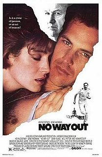 <i>No Way Out</i> (1987 film) 1987 thriller film directed by Roger Donaldson