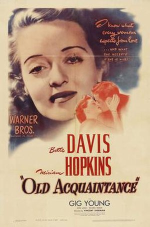 Old Acquaintance - Image: Old Acquaintance film poster