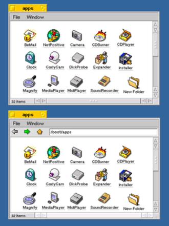 OpenTracker - Image: Open Tracker Two Windows