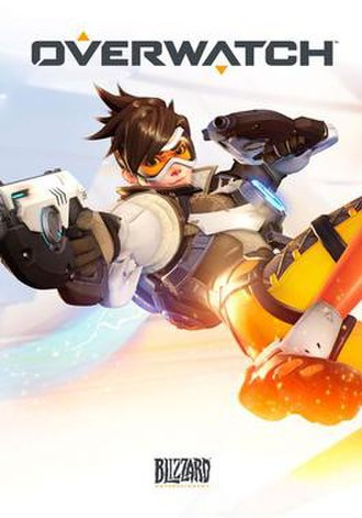 Overwatch (video game) - Cover art featuring Tracer, one of the game's playable characters
