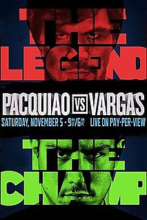 Manny Pacquiao vs. Jessie Vargas 2016 boxing match