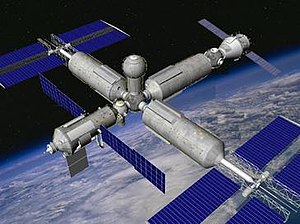 Orbital Piloted Assembly and Experiment Complex - Image: Proposed OPSEK