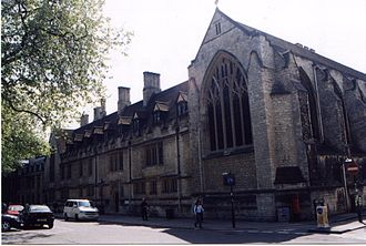 Pusey House, Oxford - Front of Pusey House (Pusey Street on right)