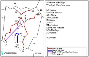 Transport in Nigeria - The Nigerian Railway map