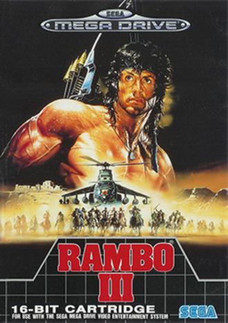 Rambo III (video game) - Cover art of Rambo III for the Sega Mega Drive