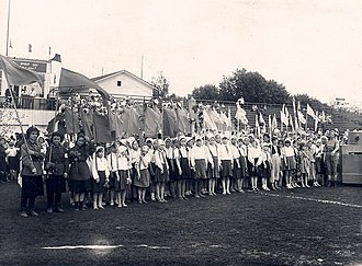History of the Soviet Union (1927–1953) - Soviet children celebrating the school year end on the eve of the Great Patriotic War, June 21, 1941.