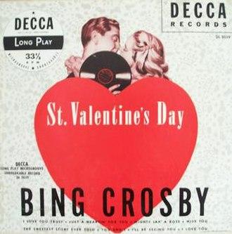 St. Valentine's Day (album) - Image: St. Valentine's Day (Bing Crosby album) cover